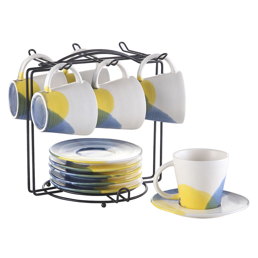 Daily used ceramic coffee cup & saucer for restaurant