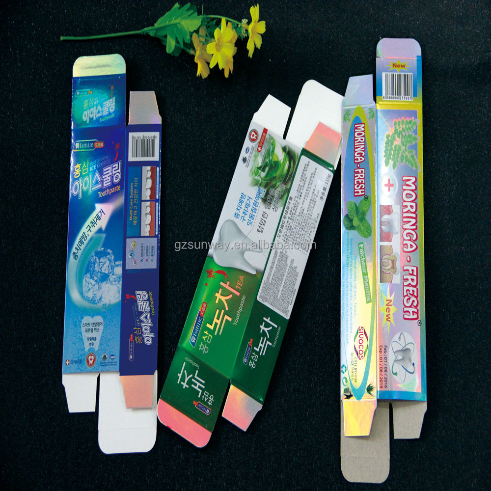 Toothpaste Printing Cardboard Packaging Boxes Size