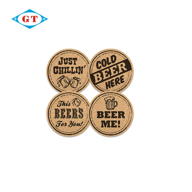 China gemaakt bar kurk coaster custom beer cup mat