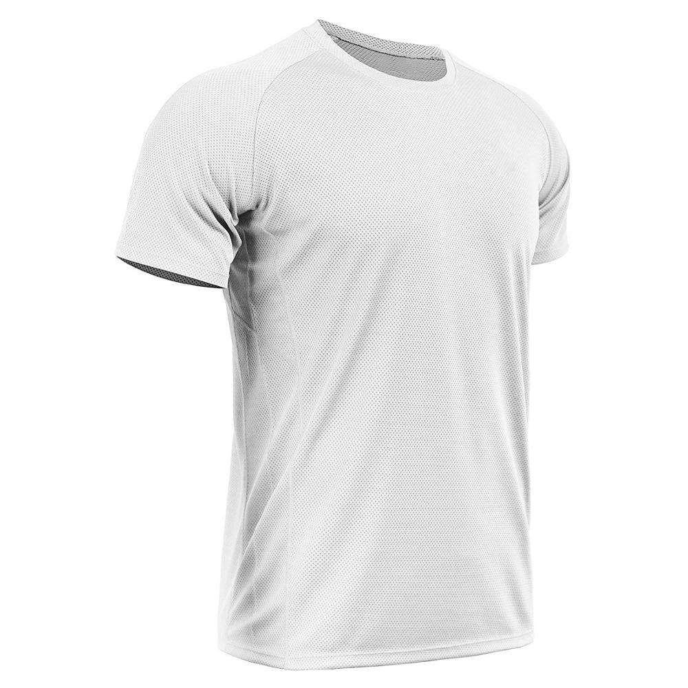 Customize LOGO 100% Polyester Men's Dry Fit Mesh Athletic Shirts Sport Tshirt