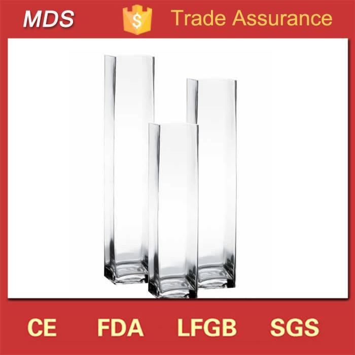 Hohe qualität klar billig platz 24 zoll hohen glasvasen