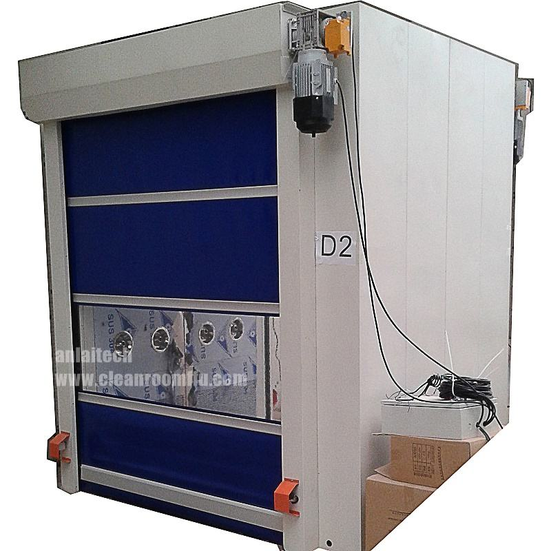 Automatic Fast rolling air shower door for material air shower