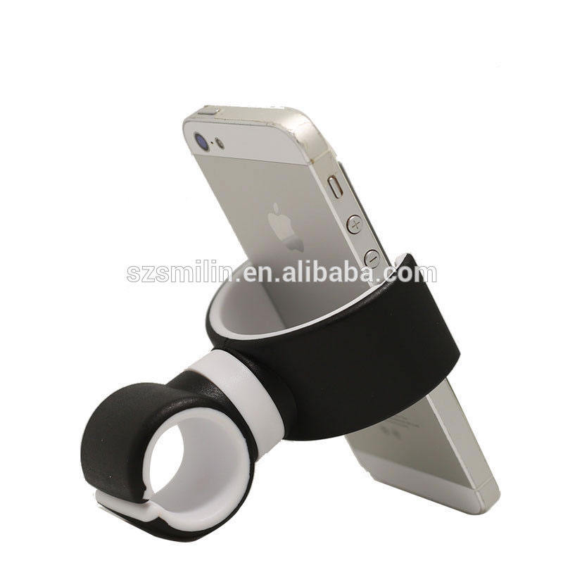 Phone Accessories Portable Double C Mobile Phone Holder Silicone Car Mount Phone Holder for Bike