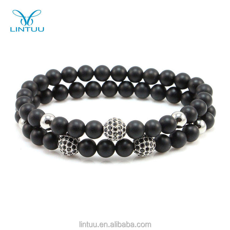 Jenia Double Bracelet New Design Agate Bead Diamond Bead Elastic Bracelet