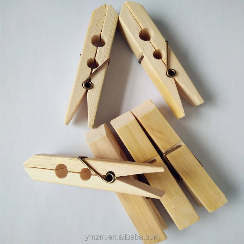 Newest design bamboo clothespin bamboo pegs clothing clips