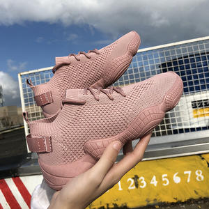 Hot Sale Outdoor Running sport shoes for women Breathable air mesh sock sneakers