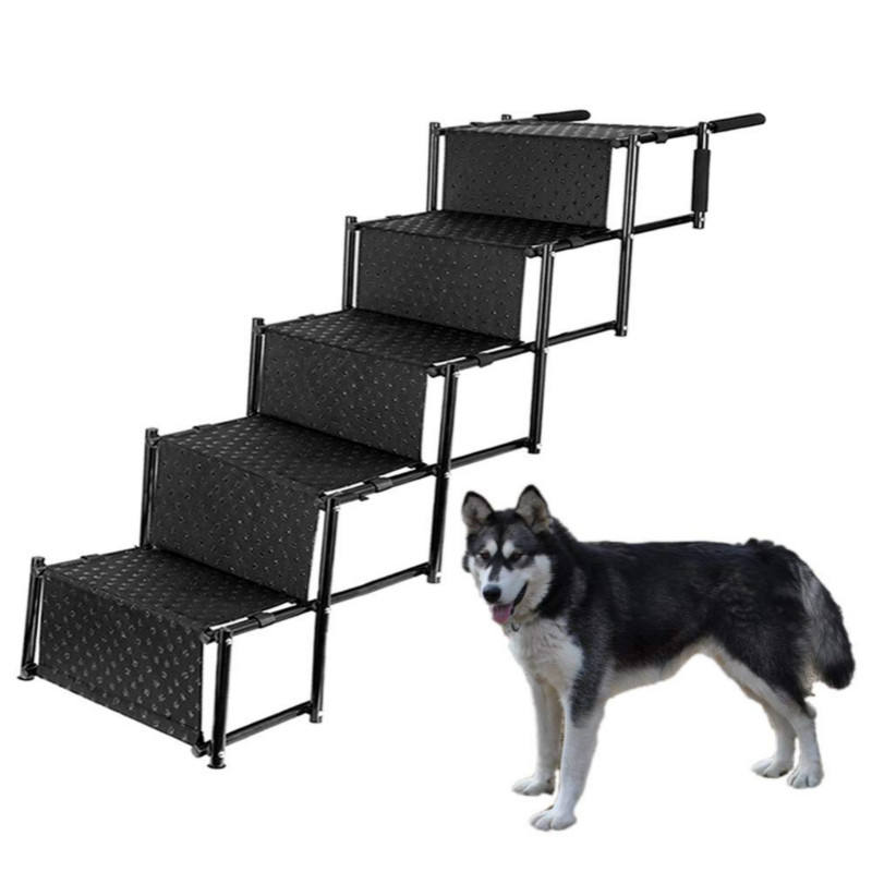 5 dog steps stairs for car folding portable dog stairs pet ramp dog car stairs