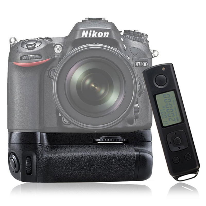 MEIKE Vertical Battery Handle Grip Pack DR7100 für Nikon D7100 mit 2.4GHz Wireless Remote Control