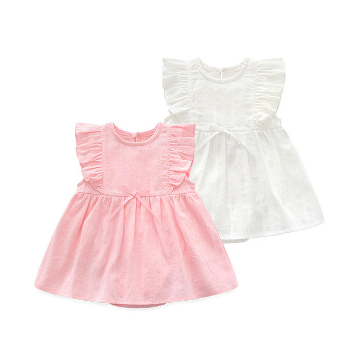 summer princess Newborn Fashion 100%cotton infant wholesale baby clothes girl dress newborn clothing romper