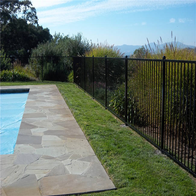 Black Color Swimming Pool Fence