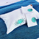 Cute conch printing 100% cotton sateen 60*40s 300TC pillow case for home
