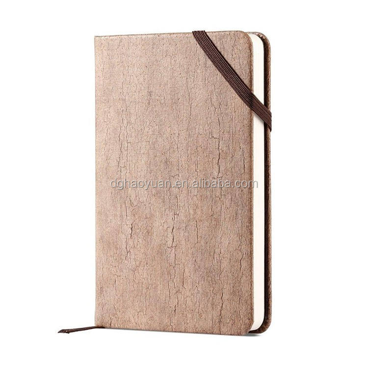 A5 perfect binding business wood cover notebook/diary