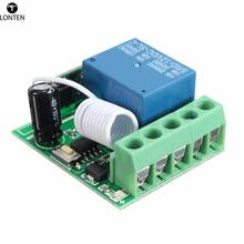 Lonten Hot Sale DC 12V 1 Ch 433MHz Wirel Relay RF Remote Control Switch Heterodyne Receiver 3.5cmX3cmX1.6cm Electronic Modules