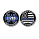 custom gold eagle usa national nypd thin blue line challenge emblem coin