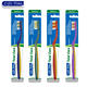 anti-slip design handle adult toothbrush with dual function