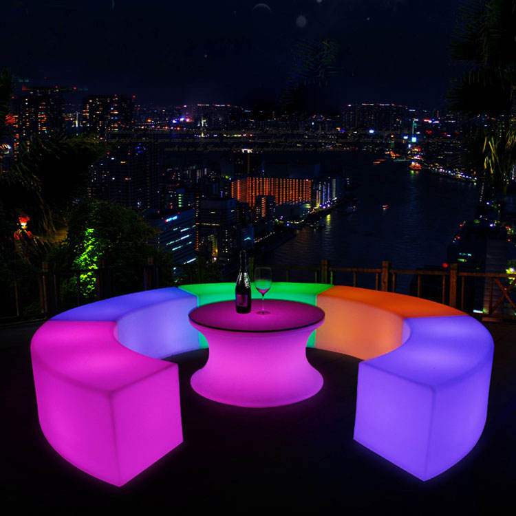 Packaging Customization [ Outdoor Furniture ] Economical Outdoor Led Bar Furniture Led Patio Furniture Led Bench