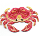 Red Crab - Ocean Animals - Iron on Applique - Embroidered Patch