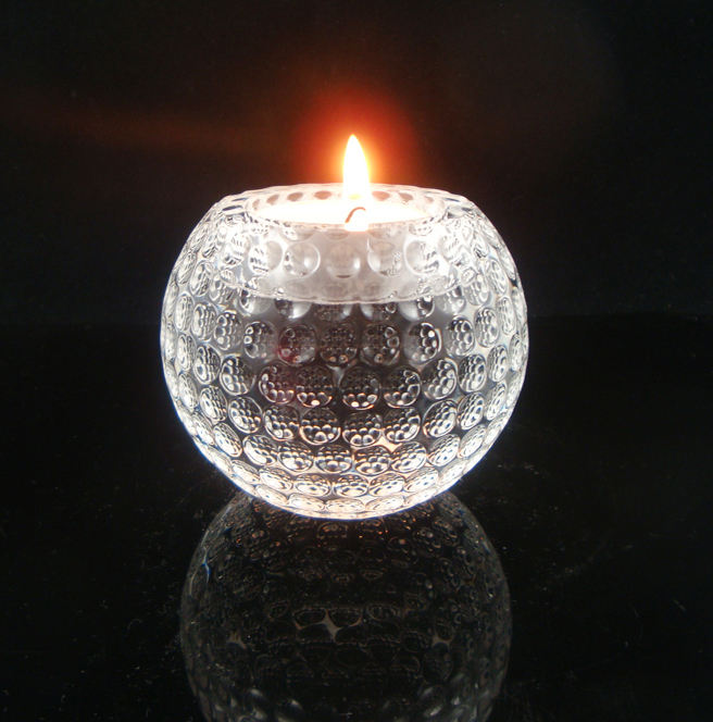 crystal craft gift item Golf ball Candle Holder crystal