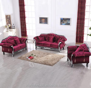 Modern Glamourous Elegance Red Sofa Set Living Room Sofa and Couch Contemporary