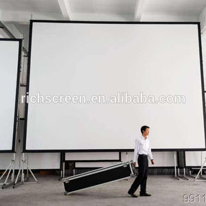 Large Outdoor Front and Rear Portable Fast Fold Projection Screen/Projector Screen