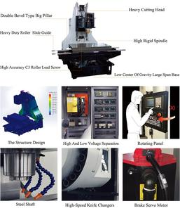 Mini 5 axis cnc milling machining center with fanuc controller
