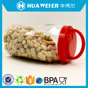 1800ml large wide open mouth plastic food jar for cookies peanuts
