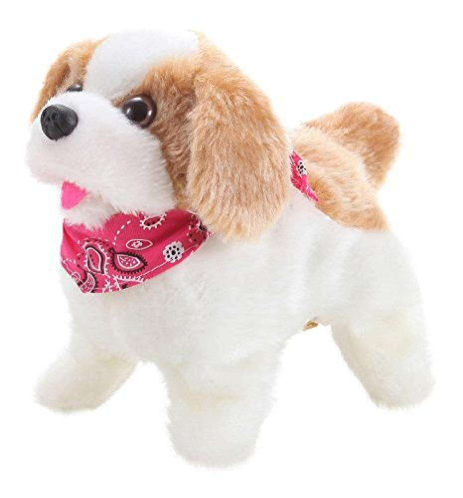 Flip Over Somersaults Walks Sits Barks Cute dog animated electronic plush toys