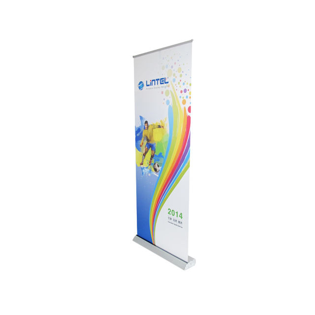 aluminum retractable display stand roll up banner stand