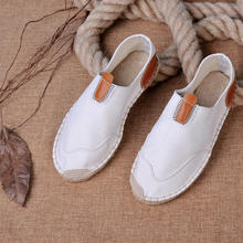 Wholesale Men Casual Shoes Jute Soles Fashion Walking Shoes Espadrilles For Men