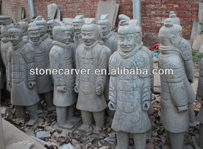 Pedra Terra Cotta Warriors estátua