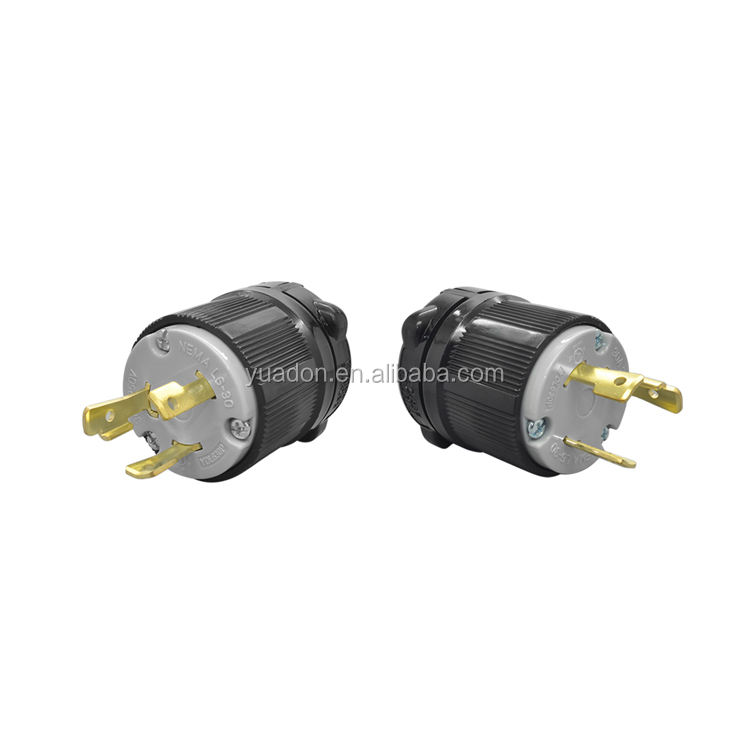 Manufacturer 2 pole 3 wire 30A 250V locking industrial plug Nema L6-30 power plug