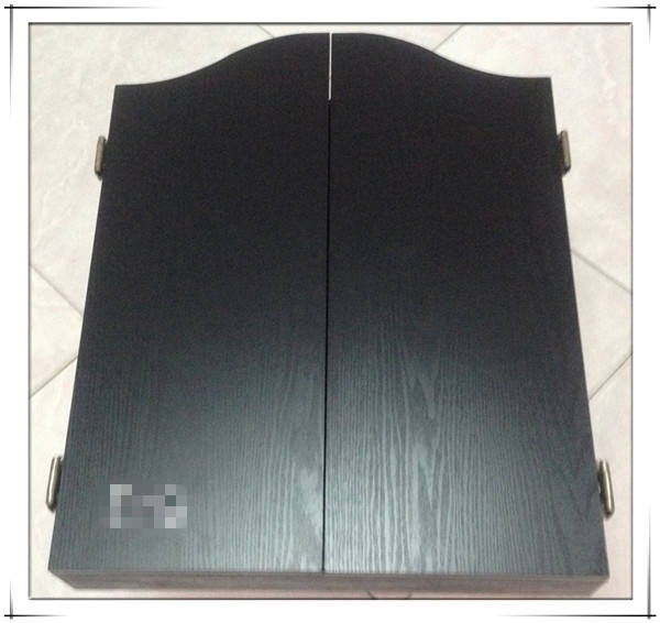 MDF black darts cabinet dart board / dart boxes for dartboard