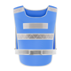 New type 100% polyester mesh high visibility reversible safety vest blue