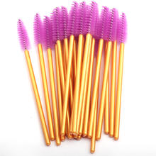 ThinkShow Wholesale price eye Lashes Disposable Mascara Wand Eyelash Extension Brush Plastic Mascara Brush