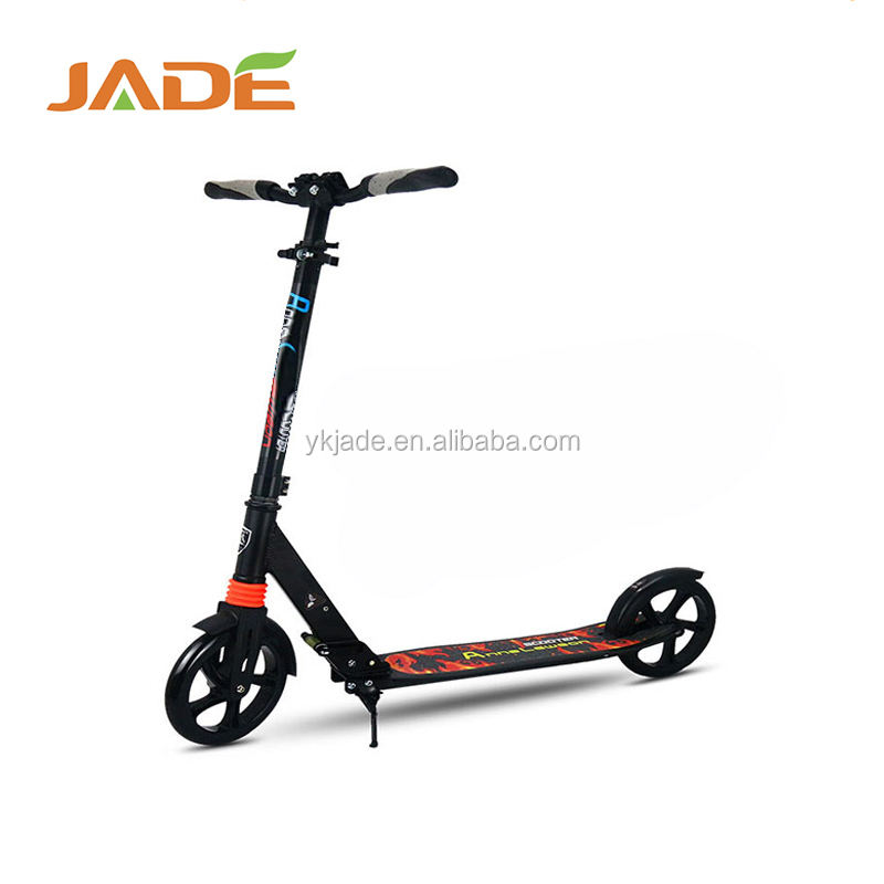 2017 100% aluminum material two big wheels kick scooter adult