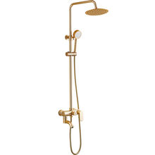 Bathroom wall way to install whole Gold body shower head rain space aluminum bath faucet Shower Sets