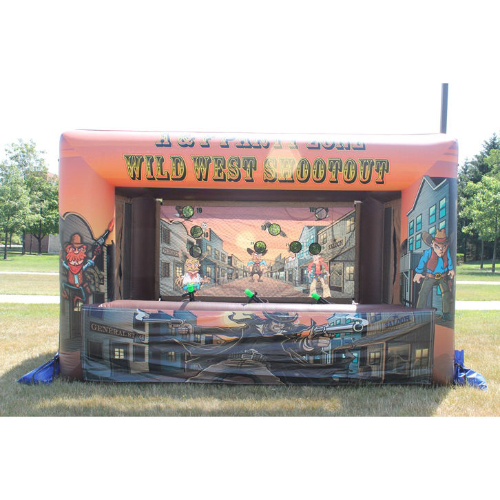 Wild west inflatable carnival shootout เกม inflatable shooting gallery สำหรับขาย