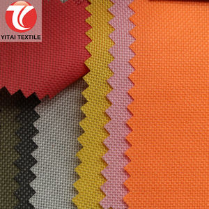 100 % polyester 600 denier 600d poly polyester oxford cloth fabric with pu coating coated