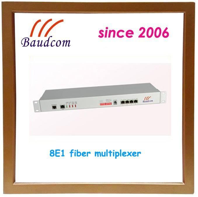 8E1 волоконно-оптический преобразователь с 4 Ethernet