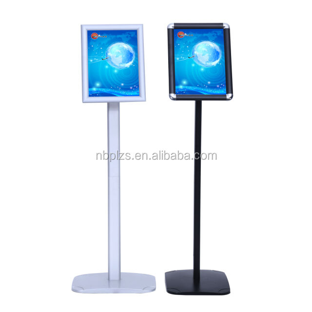 Aluminum A3/A4 menu stand plastic base display holder