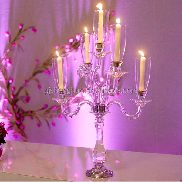 Wedding favor clear crystal table candelabra decoration china used candelabra