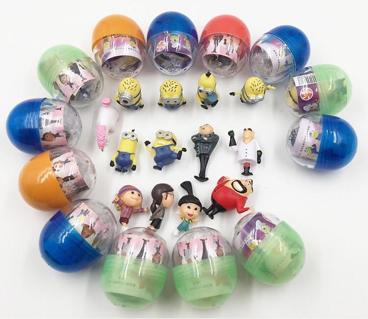 Custom Plastic Leuke Mini Animated Karakter Gashapon Capsule Speelgoed