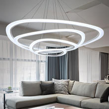 BLUE TIME New Modern pendant lights for living room dining room Circle Rings acrylic LED Lighting ceiling Lamp