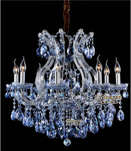 Charming Blue Crystal Maria Theresa Chandelier Contemporary MD8658-L8