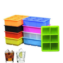 Easy Release Large Square silicone  Ice Cube tray Mold