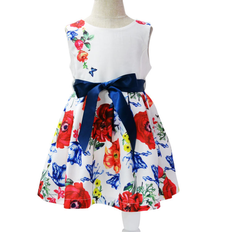 2018 New Model Children Chiffon Dresses Baby Girl Princess Flower Dresses