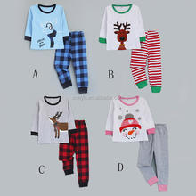 Boy and girls latest soft cotton kids christmas pajamas