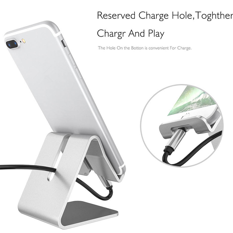 Moilbe Phone Accessories New Products Hot Sale Aluminum Desk Cradle Mobile Cell Phone Display Stand Holder