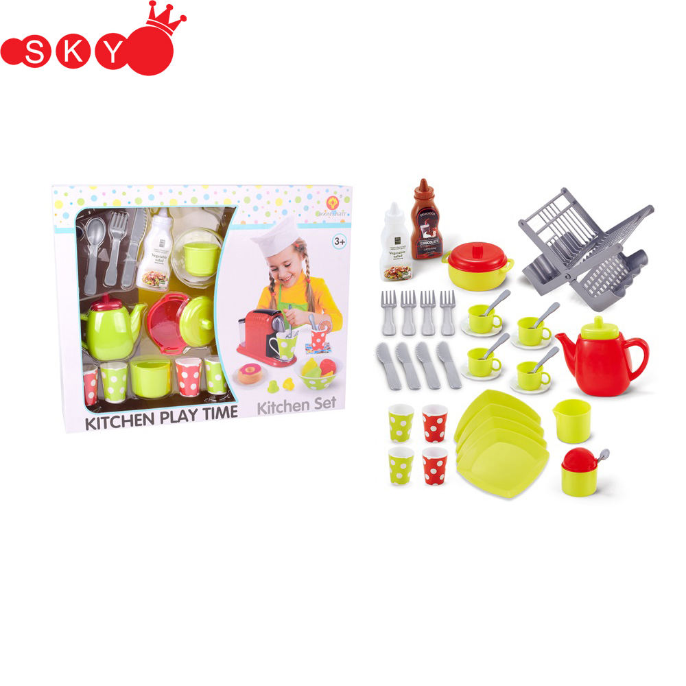 Best plastic children pretend toy kitchenware set kids toys play kitchen for funny play