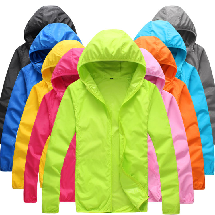 RTS Foldable Quick Dry Outdoor Camping Jackets Summer Windbreaker Waterproof Windproof Sun-protection Thin Hiking Hoodie Jacket